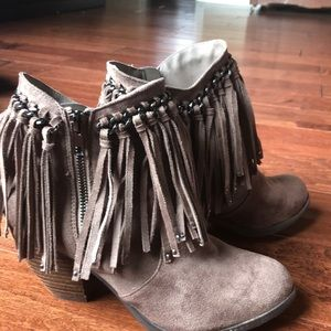 Short Booties with fringe